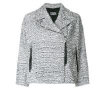 bouclé tweed biker jacket