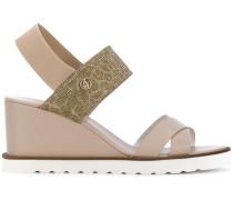 Slip-On-Sandalen mit Keilabsatz