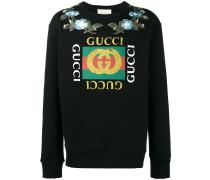 Sweatshirt mit floralen Patches