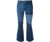Ausgestellte Patchwork-Jeans
