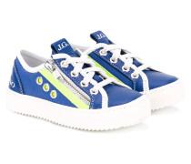 - Sneakers mit Schnürung - kids - Leder/rubber