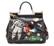 Sicily astronaut printed tote bag