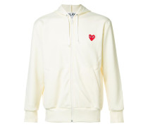 embroidered zipped hoodie