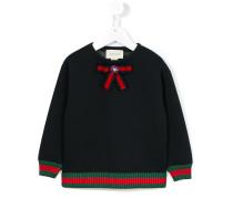 Sweatshirt mit Schleifen-Applikation