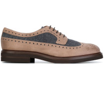 Oxford-Schuhe mit Wolleinsatz