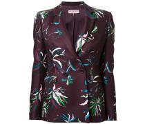 Taillierte Jacke mit Blumen-Print