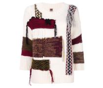 oversized patchwork effect jumper