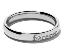 'Forever' Weißgoldring mit Diamant