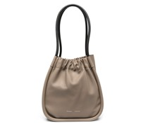 L Ruched tote bag