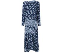 Kleid mit kontrastierendem Karoeinsatz