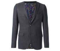 Tweed-Wollsakko mit bedrucktem Futter