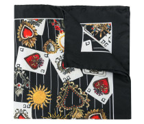 playing cards printed square scarf