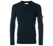 logo patch thin sweater