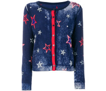 star embroidered cardigan