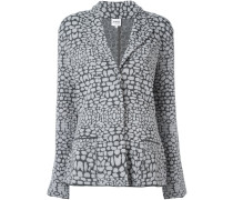 patterned knit blazer