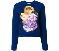 Sweatshirt mit Kristall-Motiv