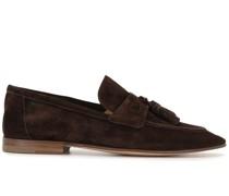 Loafer aus Wildleder mit Quasten