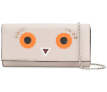 Eyes embroidered clutch
