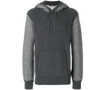 kangaroo pocket knitted hoodie