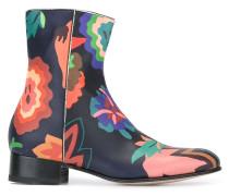 Stiefel mit Blumen-Print