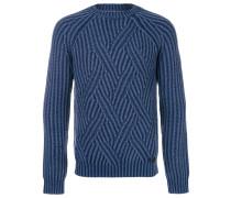 Gerippter Merino-Pullover