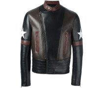 Bikerjacke mit Stern-Patches
