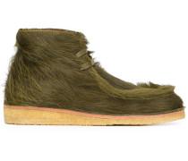 Desert-Boots mit Fellbesatz