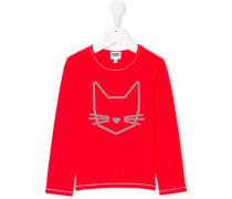 cat print long sleeve shirt