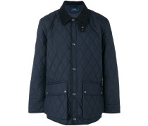 diamond-quilted jacket - men