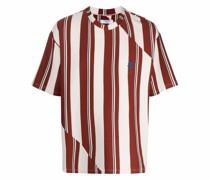 Gestreiftes T-Shirt mit Rundhalsausschnitt