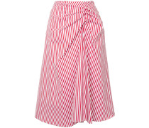 twisted front striped skirt