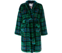 oversized tartan coat