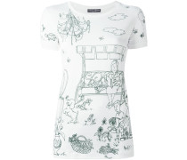 """T-Shirt mit """"Victorian Garden""""-Print"""