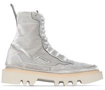 High-Top-Sneakers mit Netzeinsätzen