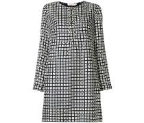 Kleid mit eckigem Print