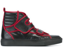 High-Top-Sneakers mit Kontrastpaspeln