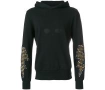 studded sleeves hoodie
