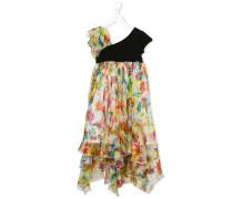 Drapiertes Kleid mit Blumen-Print
