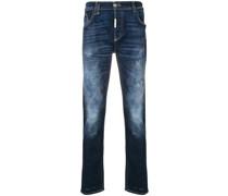 Ausgeblichene Straight-Leg-Jeans