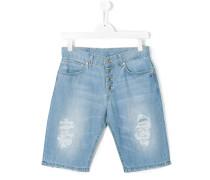 Jeans-Shorts in Distressed-Optik - kids