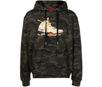 Sail-print cotton hoodie