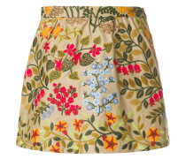 embroidered floral skorts