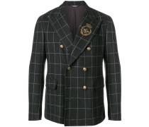 appliqué detail double breasted blazer