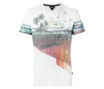 T-Shirt mit Strand-Print - men - Baumwolle - L