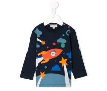 Sweatshirt mit Astronauten-Print