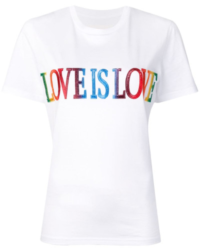 "T-Shirt mit ""Love Is Love""-Print"