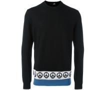 Pullover mit Friedenszeichen-Print