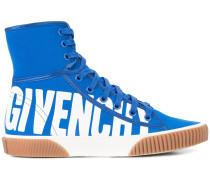logo print hi-top sneakers