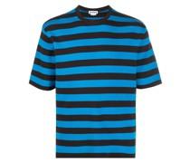 Fein gestricktes T-Shirt mit Streifen