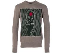 Intarsien-Pullover aus Wolle